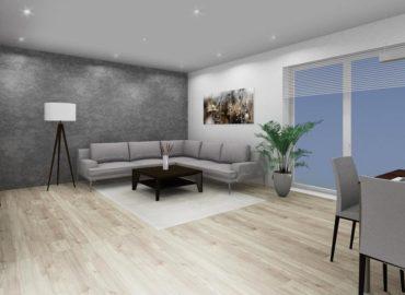 Obývací pokoj od kuchyně